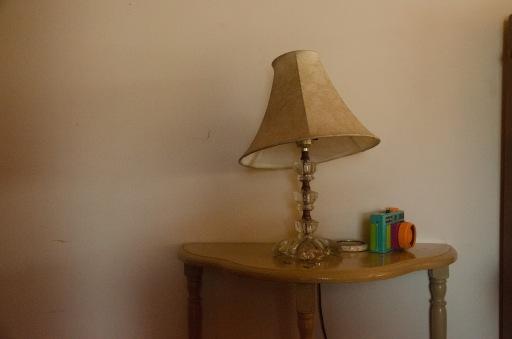 crooked lamp and holga