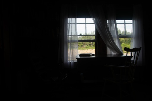 darkened room view
