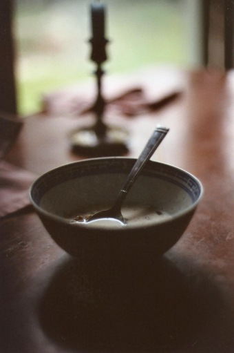 rice bowl and spoon