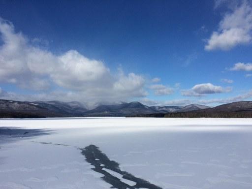 winter mountains path
