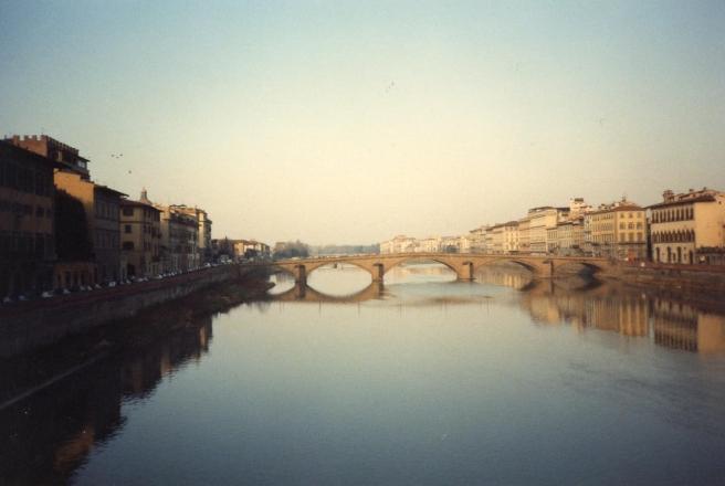 glassy european river