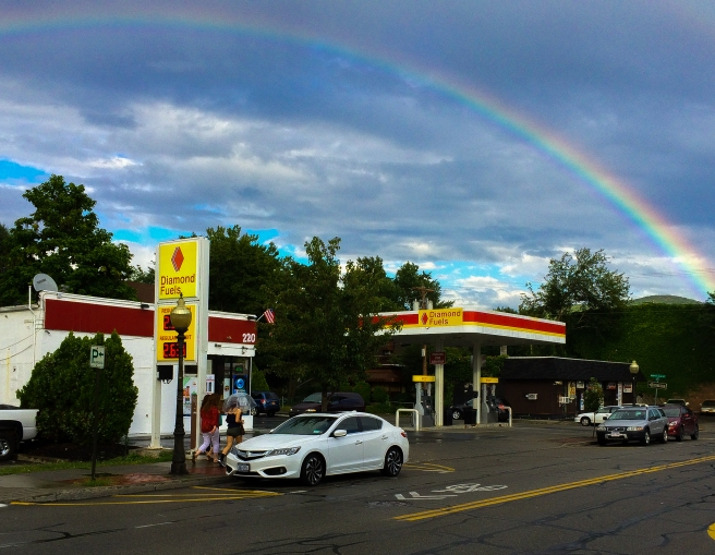 rainbow gas station